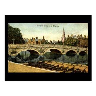 Old Postcard, Bedford Bridge 1936