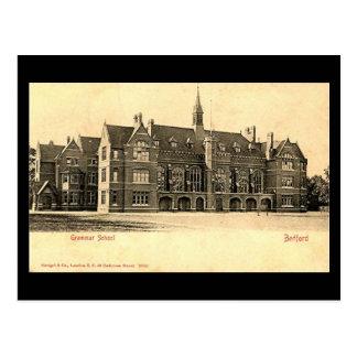 Old Postcard, Bedford Grammar School