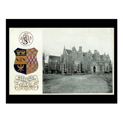 Old Postcard, Bedford High School for Girls