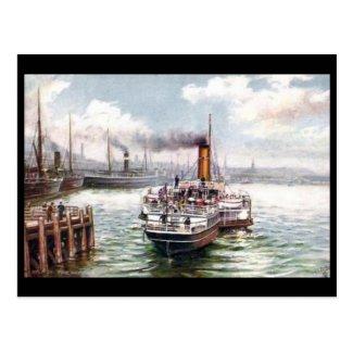 Old Postcard - Belfast Harbour