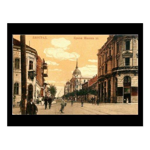 Old Postcard, Belgrade, Krala Milana Street