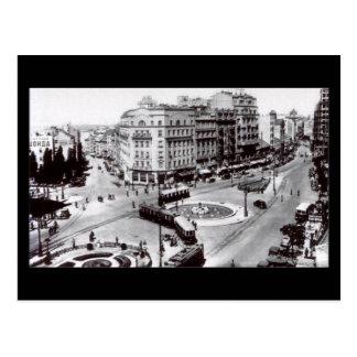 Old Postcard, Belgrade, Terazije in 1939 Postcard
