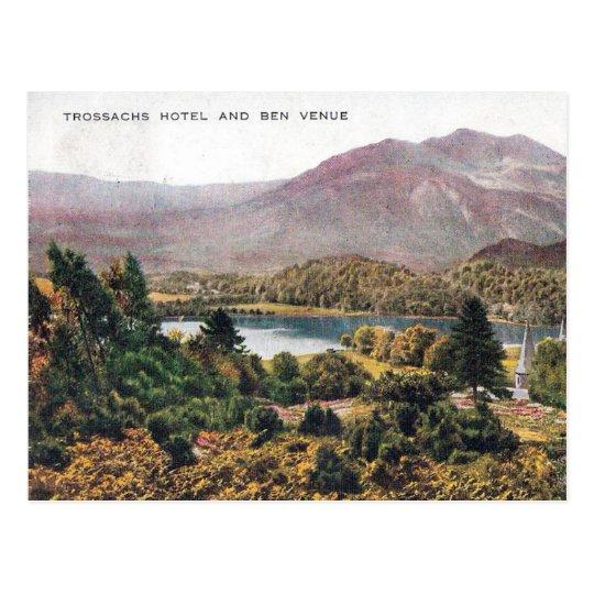 Old Postcard - Ben Venue, Trossachs, Scotland