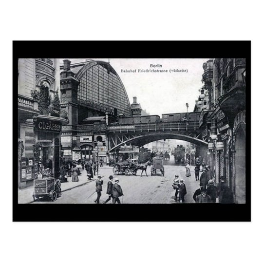 Old Postcard - Berlin, Friedrichstrasse Station