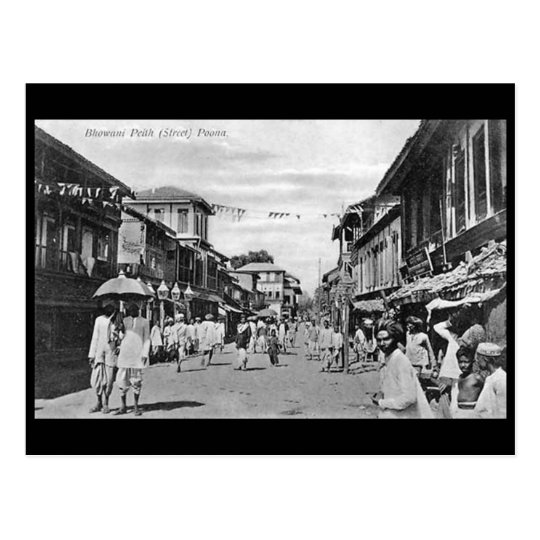 Old Postcard - Bhowani Street, Pune, India