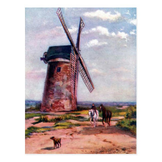 Old Postcard - Bidston Mill, near Birkenhead.