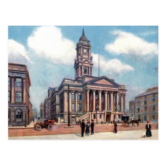 Old Postcard - Birkenhead Town Hall