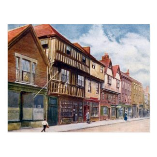 Old Postcard - Bishop Hooper's House, Gloucester