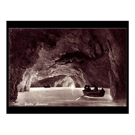 Old Postcard - Blue Grotto, Capri, Italy