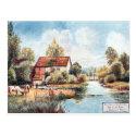 Old Postcard - Blunham Mill,Bedfordshire