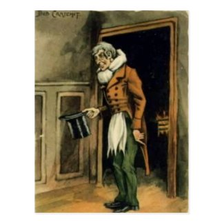 "Old Postcard - Bob Cratchit, ""A Christmas Carol"""