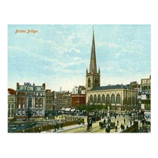 Old Postcard - Bristol Bridge