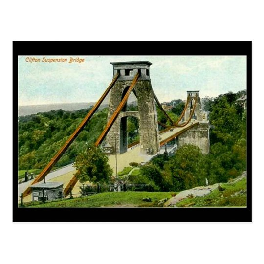 Old Postcard - Bristol, Clifton Suspension Bridge