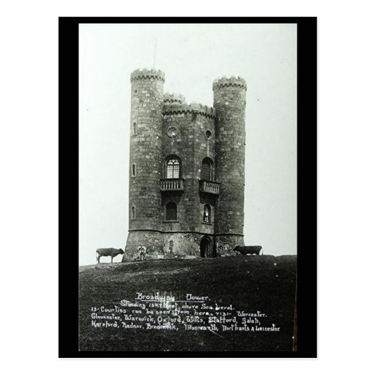 Old Postcard - Broadway Tower, Worcestershire