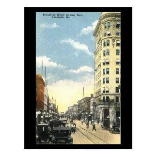 Old Postcard, Broughton St, Savannah, Georgia Postcard