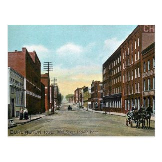 Old Postcard - Burlington, Iowa, USA