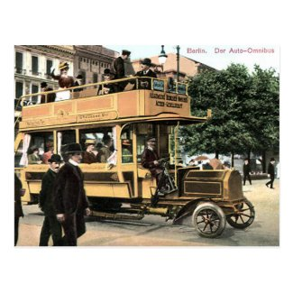 Old Postcard - Bus, Berlin