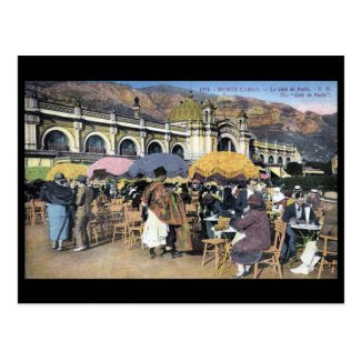 Old Postcard - Cafe de Paris, Monte Carlo