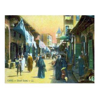 Old Postcard - Cairo, Street Scene