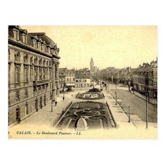 Old Postcard - Calais, Boulevard Pasteur