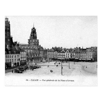 Old Postcard - Calais, Place d'Armes