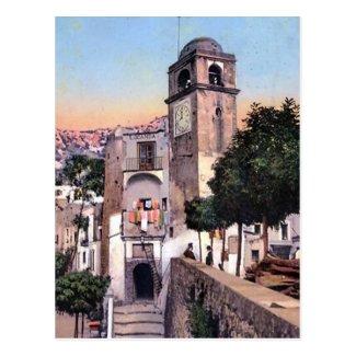 Old Postcard - Campanile, Capri, Italy