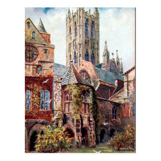 Old Postcard - Canterbury Cathedral