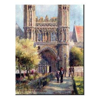 Old Postcard - Canterbury, St Augustine's Gateway