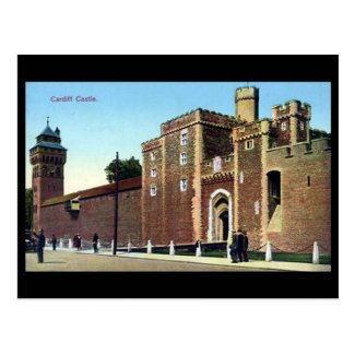 Old Postcard, Cardiff Castle