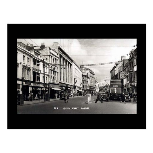 Old Postcard, Cardiff, Queen Street