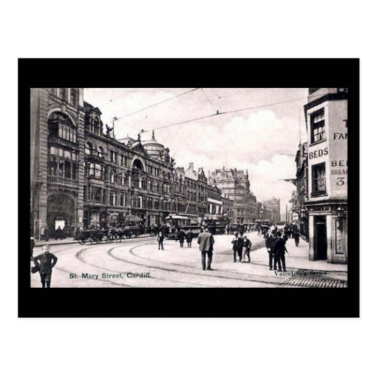 Old Postcard, Cardiff, St Mary Street Postcard