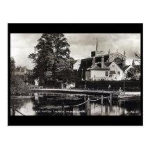 Old Postcard, Carshalton, London Borough of Sutton Postcard