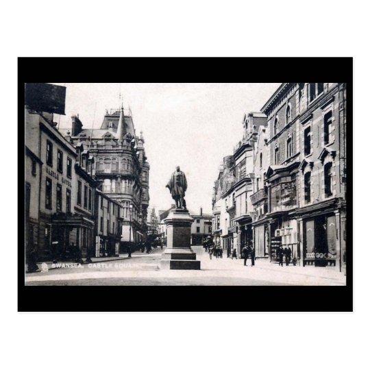 Old Postcard - Castle Square, Swansea