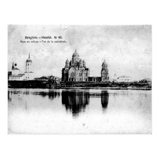 Old Postcard - Cathedral, Irkutsk, Russia