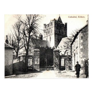 Old Postcard - Cathedral, Kildare, Ireland