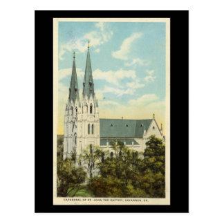 Old Postcard, Cathedral, Savannah, Georgia Postcard