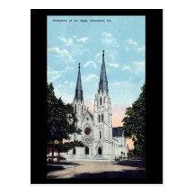 Old Postcard, Cathedral, Savannah, Georgia, USA
