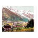 Old Postcard - Chamonix and Mont Blanc
