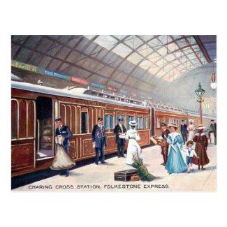 Old Postcard - Charing Cross Station, London