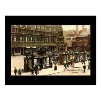 Old Postcard, Charing Cross Station, London Postcard