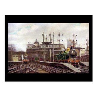 Old Postcard, Charing Cross Station, London