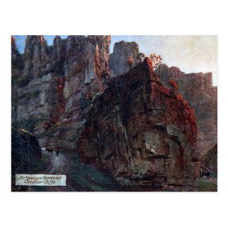 Old Postcard - Cheddar Cliffs, Somerset