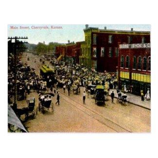 Old Postcard - Cherryvale, Kansas, USA