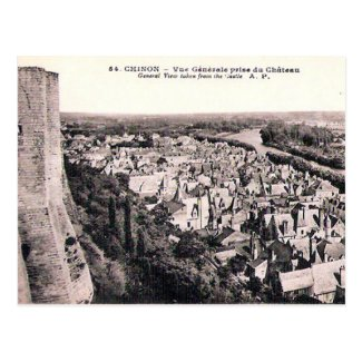 Old Postcard - Chinon, Indre-et-Loire, France