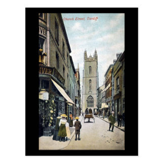Old Postcard, Church Street, Cardiff Postcard
