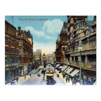 Old Postcard - Church Street Liverpool