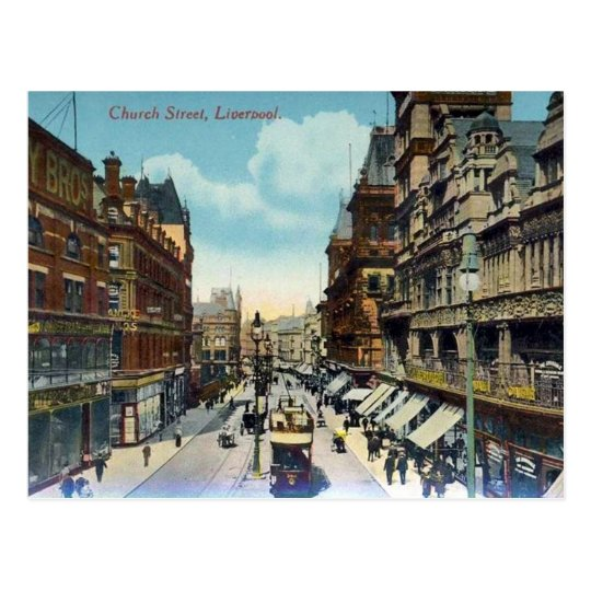 Old Postcard - Church Street, Liverpool