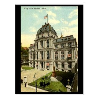 Old Postcard - City Hall, Boston, Mass