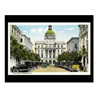 Old Postcard, City Hall, Savannah, Georgia Postcard
