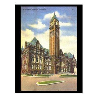 Old Postcard - City Hall, Toronto, Ontario